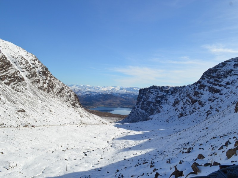 view from bealach na ba down to achintraid (the studio is by the loch at the bottom)