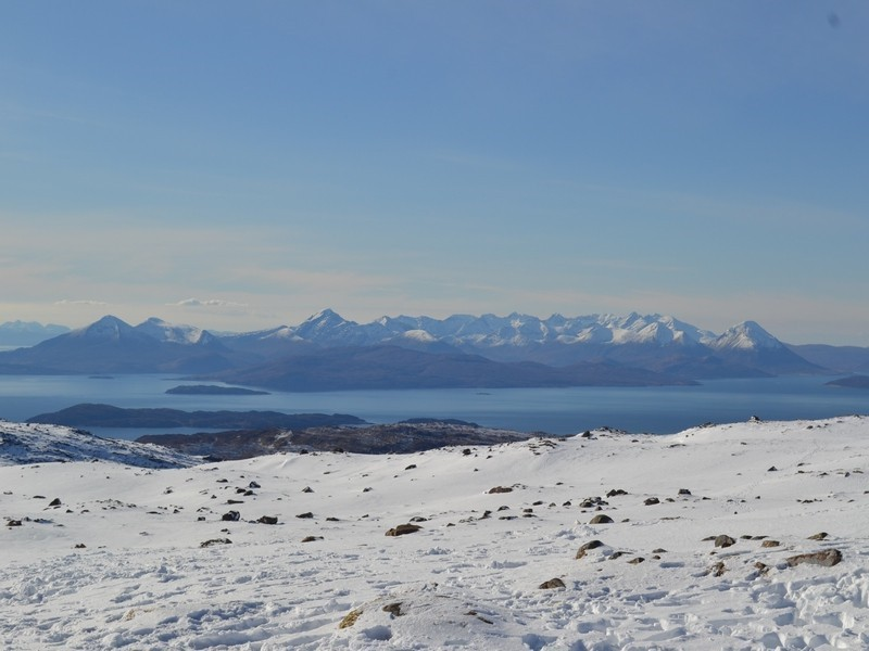 the view to skye from the applecross hills