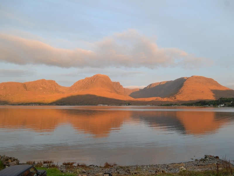 view over loch kishorn and the applecross hills