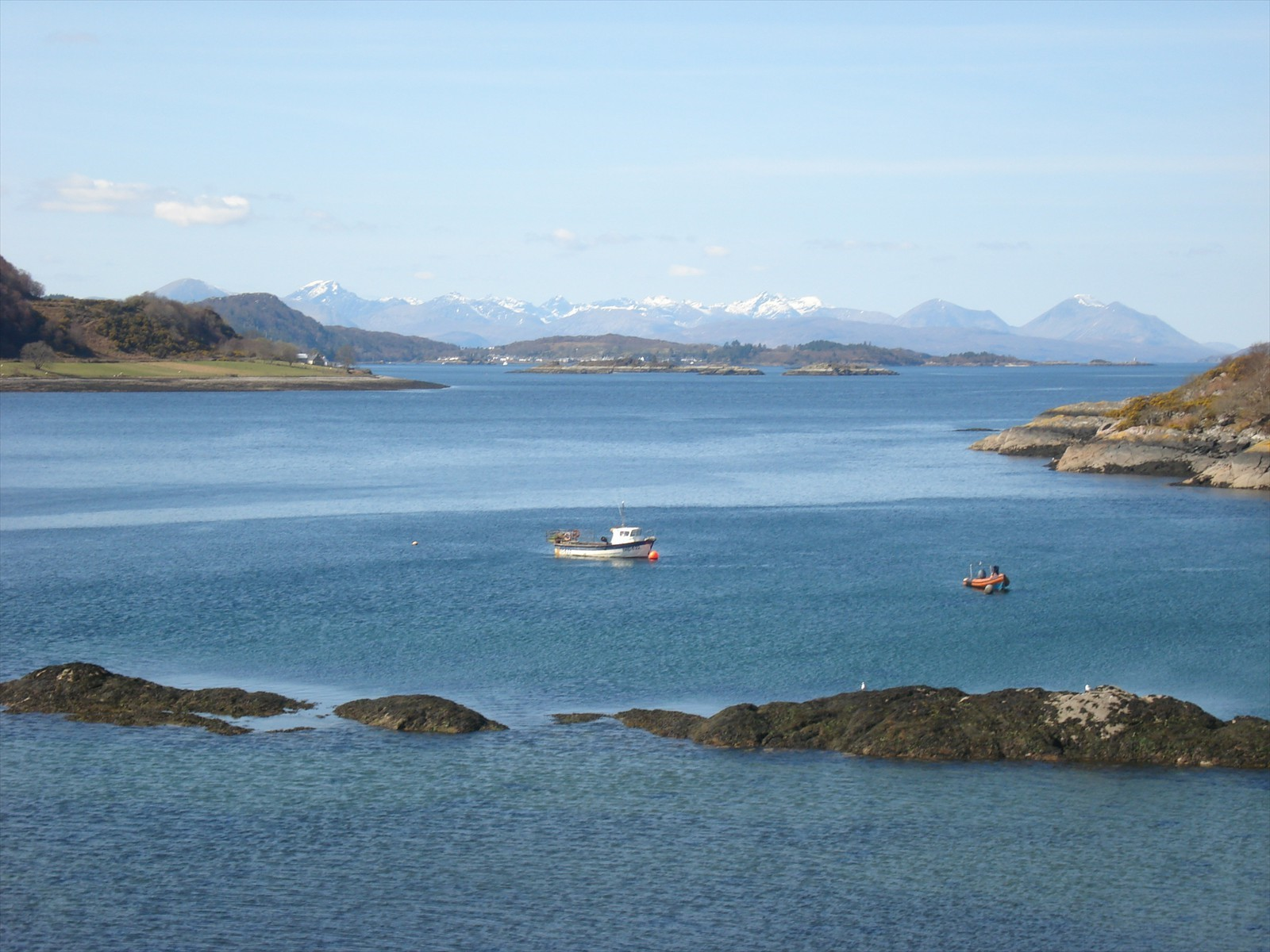 loch carron looking over to skye and plockton from strome