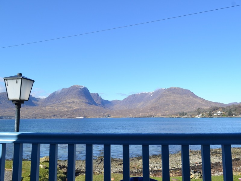 veiw from studio balcony over loch kishorn and applecross hills